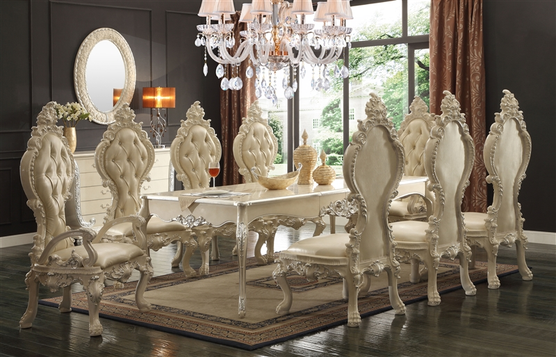 Traditional Regal Ivory 7 Piece Dining Room Set By Homey Design Hd 13012 I