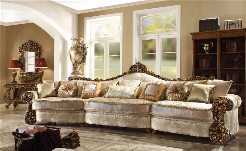 World Mansion Living Room Sofa By Homey Design Hd 1608 Larger Photo
