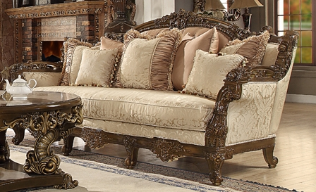 traditional european style upholstery sofa by homey design hd 1609 s - Homey Design Upholstered