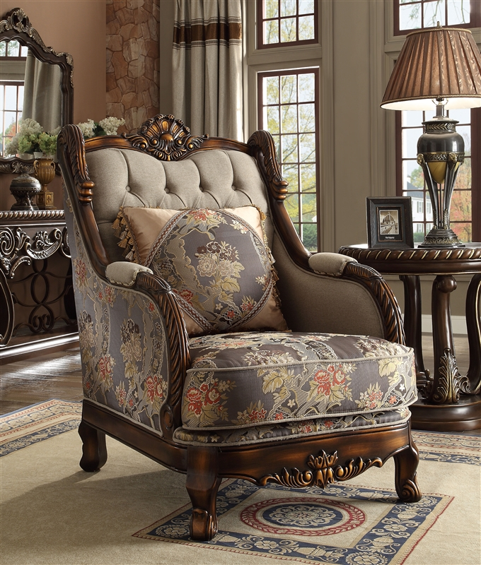 Traditional Upholstery Chair by Homey Design - HD-1623-C