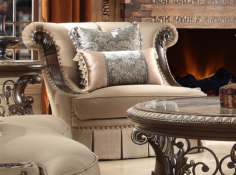 Living Room Sets With Wood Trim traditional wood trim 2 piece living room sethomey design - hd