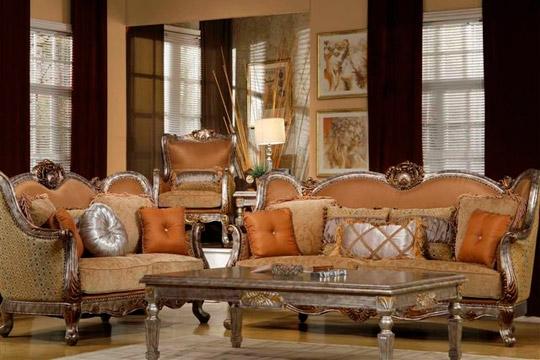 Fayence 2 Piece Living Room Set by Homey Design HD-1628