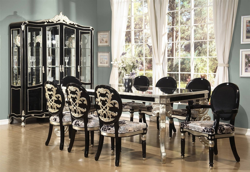 Leg Table 7 Piece Dining Set by Homey Design HD-195