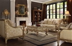 Victorian Wood Trim 2 Piece Living Room Set by Homey Design - HD-205