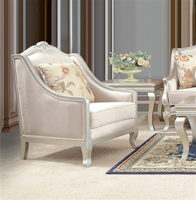 Decorative Trim Elegant Upholstery Chair by Homey Design - HD-2057-C