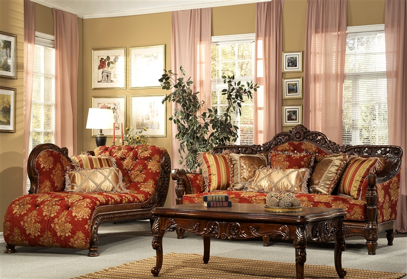 Homey Design Red Leather Living Room Set - mathwatson