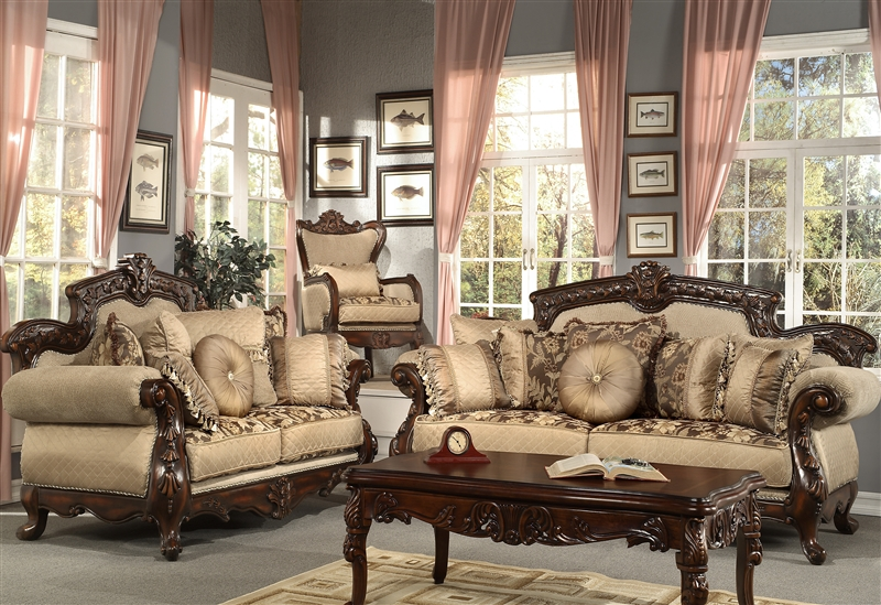 Living Room Sets Traditional traditional upholstery 2 piece living room sethomey design hd