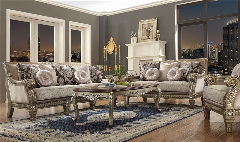 Traditional Upholstery 2 Piece Living Room Set by Homey Design - HD-303