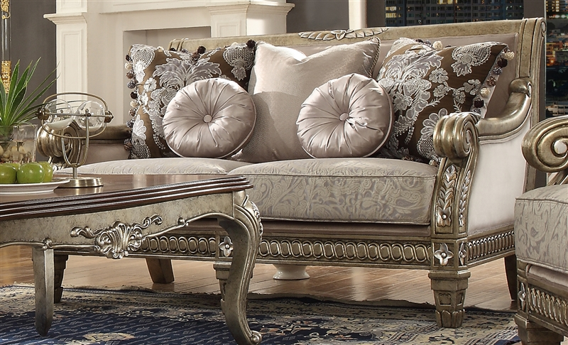 Traditional Upholstery Loveseat By Homey Design Hd 303 L