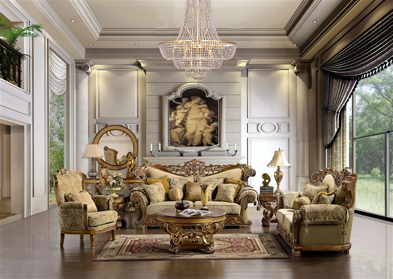 Traditional Upholstery Royal 2 Piece Living Room Set By Homey