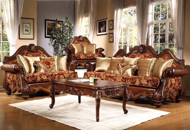 Living Room Sets Traditional vallauris 2 piece living room sethomey design hd-481