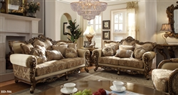Antique European Style 2 Piece Living Room Set by Homey Design - HD-506