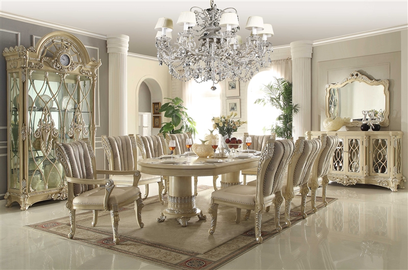 Victorian Style 7 Piece Dining Room Set By Homey Design Hd 5800 Dt