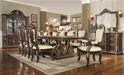 Classic Dark Cherry Finish 7 Piece Dining Room Set by Homey Design - HD-8013-DT