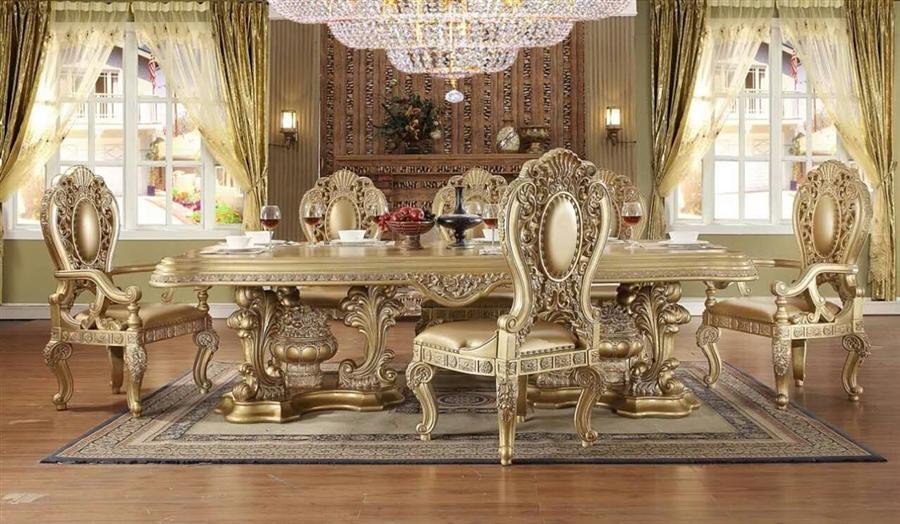 Bellagio 7 Piece Dining Room Set by Homey Design - HD-8016-DT