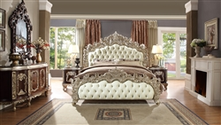 European Carved Diamond Tufted Bed by Homey Design - HD-8017-B