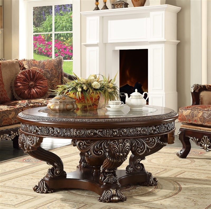 Victorian Classic Design 3 Piece Occasional Table Set By Homey Design    HD 8017 OT