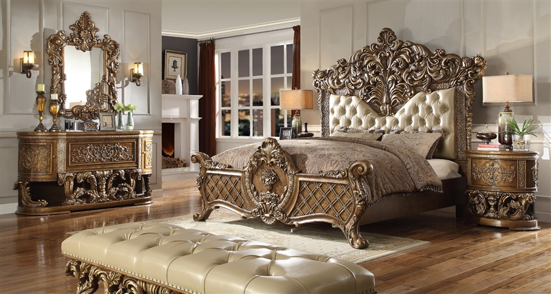 Fine Marbella 6 Piece Bedroom Set By Homey Design Hd 8018 Interior Design Ideas Ghosoteloinfo
