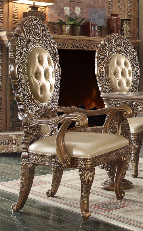 e7a8063e7b3c Victorian Dark Brown Dining Room Set by Homey Design - HD-8018-DT