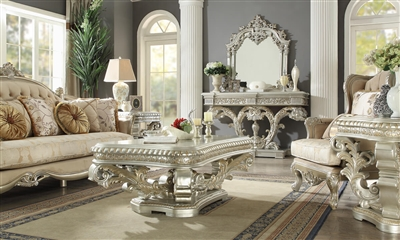 Decorative Pedestal 3 Piece Occasional Table Set by Homey Design - HD-8088-OT
