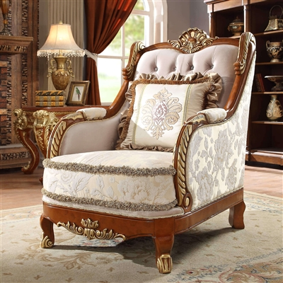 Decorative Trim Chair in Metallic Bright Gold by Homey Design - HD-814-C