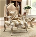 Regal Luxury Tufted Carved Chair by Homey Design - HD-820-C