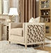 Upholstery Chair in Champagne Finish by Homey Design - HD-8911-C
