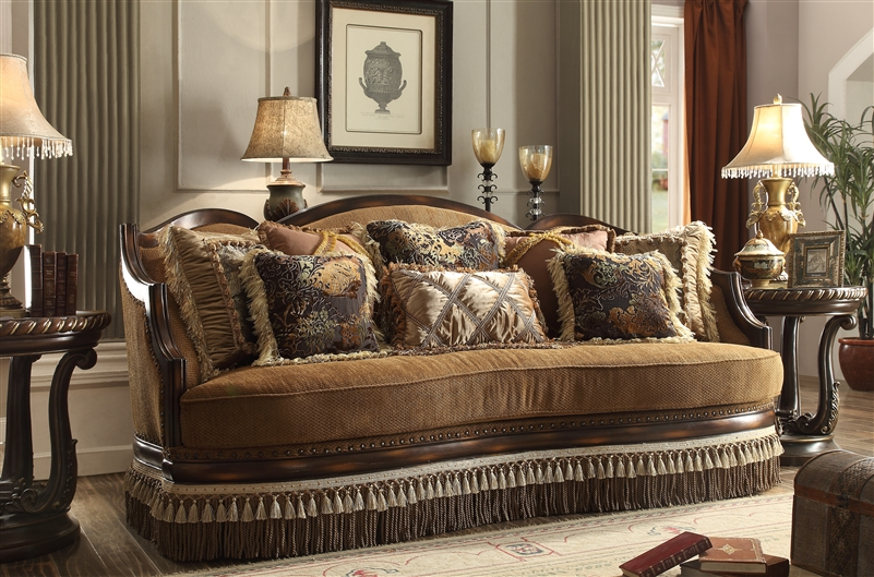 traditional upholstered sofa by homey design hd 9344 s - Homey Design Upholstered