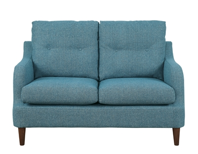 Cagle Love Seat in Blue by Home Elegance - HEL-1219BU-2