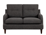 Cagle Love Seat in Chocolate by Home Elegance - HEL-1219CH-2