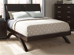 Astrid Queen Sleigh Bed in Espresso by Home Elegance - HEL-1313-1