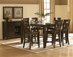Crown Point 5 Piece Counter Height Dining Set in Merlot by Home Elegance - HEL-1372-36-5