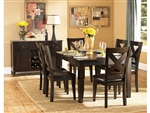 Crown Point 5 Piece Dining Set in Merlot by Home Elegance - HEL-1372-78-5