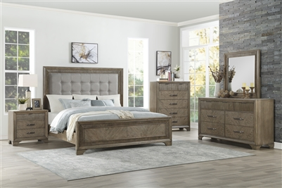 Caruth 6 Piece Bedroom Set in Gray by Home Elegance - HEL-1605-1-4