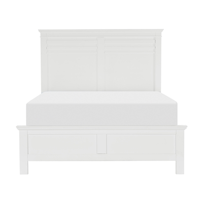 Blaire Farm Queen Bed in White by Home Elegance - HEL-1675W-1
