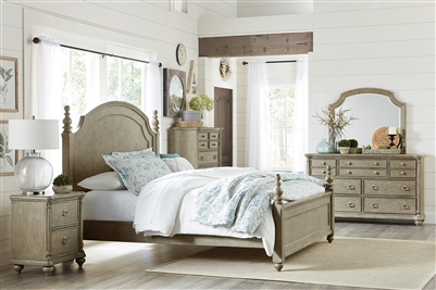Grayling Downs 6 Piece Bedroom Set in Gray by Home Elegance - HEL-1688-1-4