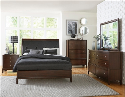 Cotterill 6 Piece Bedroom Set in Cherry by Home Elegance - HEL-1730-1-4