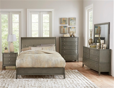 Cotterill 6 Piece Bedroom Set in Gray by Home Elegance - HEL-1730GY-1-4