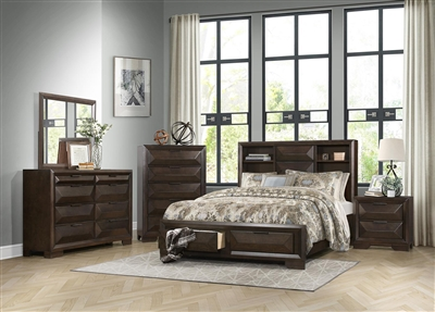 Chesky 6 Piece Bedroom Set in Espresso by Home Elegance - HEL-1753-1-4