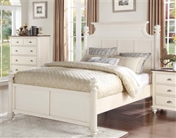 Floresville Queen Bed in Antique White by Home Elegance - HEL-1821-1