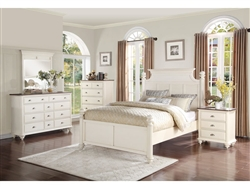Floresville 6 Piece Bedroom Set in Antique White by Home Elegance - HEL-1821-1-4