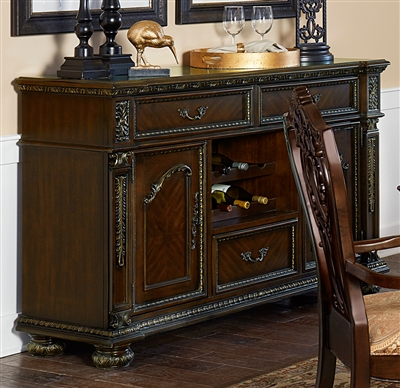 Catalonia Server in Cherry by Home Elegance - HEL-1824-40