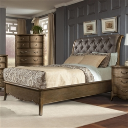 Chambord Queen Bed in Gold by Home Elegance - HEL-1828-1