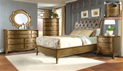 Chambord 6 Piece Bedroom Set in Gold by Home Elegance - HEL-1828-1-4