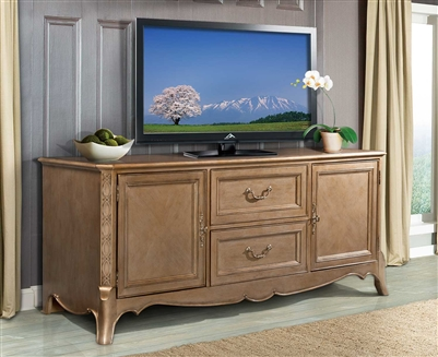"Chambord 72"" TV Stand in Champagne Gold by Home Elegance - HEL-18280-T"