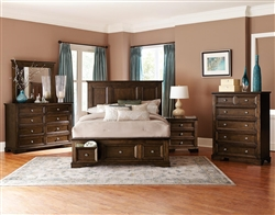 Eunice 6 Piece Bedroom Set in Espresso by Home Elegance - HEL-1844DC-1-4