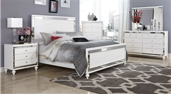 Alonza 6 Piece Bedroom Set in Bright White by Home Elegance - HEL-1845-1-4