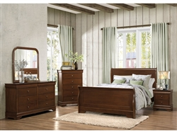 Abbeville 6 Piece Bedroom Set in Brown Cherry by Home Elegance - HEL-1856-1-4
