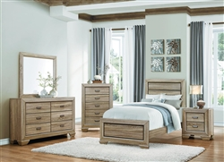 Beechnut 4 Piece Youth Bedroom Set in Light Elm by Home Elegance - HEL-1904T-1-4