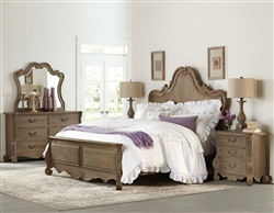 Chrysanthe 6 Piece Bedroom Set in Oak by Home Elegance - HEL-1912-1-4